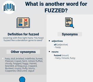 fuzzed, synonym fuzzed, another word for fuzzed, words like fuzzed, thesaurus fuzzed