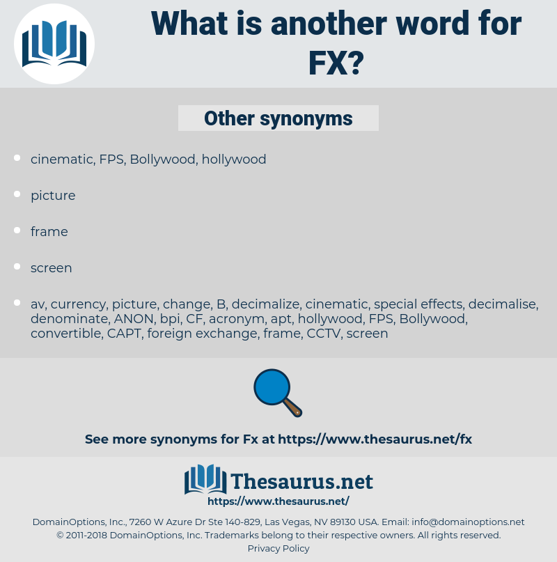 FX, synonym FX, another word for FX, words like FX, thesaurus FX