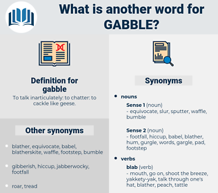 gabble, synonym gabble, another word for gabble, words like gabble, thesaurus gabble