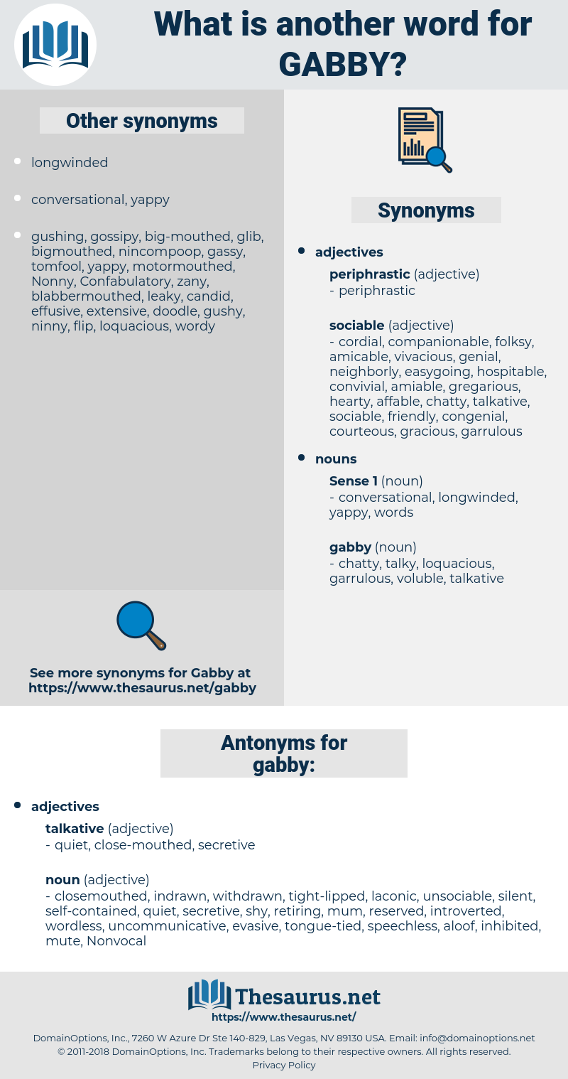 gabby, synonym gabby, another word for gabby, words like gabby, thesaurus gabby