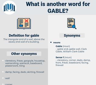 gable, synonym gable, another word for gable, words like gable, thesaurus gable