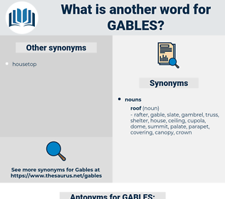 GABLES, synonym GABLES, another word for GABLES, words like GABLES, thesaurus GABLES