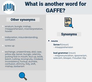 gaffe, synonym gaffe, another word for gaffe, words like gaffe, thesaurus gaffe