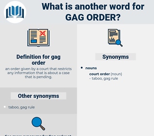 gag order, synonym gag order, another word for gag order, words like gag order, thesaurus gag order