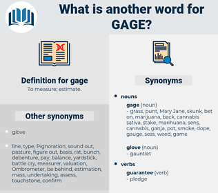 gage, synonym gage, another word for gage, words like gage, thesaurus gage