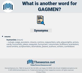 gagmen, synonym gagmen, another word for gagmen, words like gagmen, thesaurus gagmen