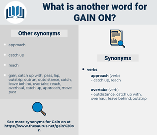 gain on, synonym gain on, another word for gain on, words like gain on, thesaurus gain on