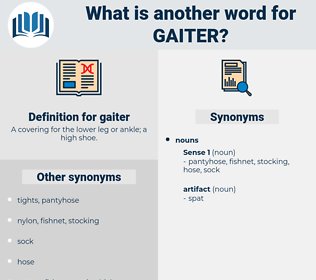 gaiter, synonym gaiter, another word for gaiter, words like gaiter, thesaurus gaiter