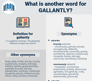 gallantly, synonym gallantly, another word for gallantly, words like gallantly, thesaurus gallantly
