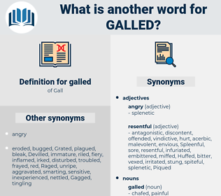 galled, synonym galled, another word for galled, words like galled, thesaurus galled
