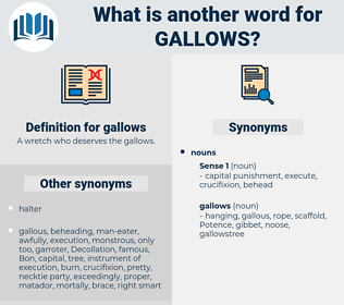 gallows, synonym gallows, another word for gallows, words like gallows, thesaurus gallows