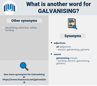 galvanising, synonym galvanising, another word for galvanising, words like galvanising, thesaurus galvanising