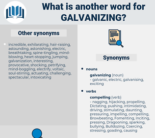 galvanizing, synonym galvanizing, another word for galvanizing, words like galvanizing, thesaurus galvanizing