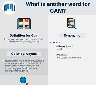 Gam, synonym Gam, another word for Gam, words like Gam, thesaurus Gam