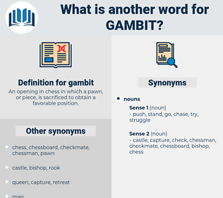 gambit, synonym gambit, another word for gambit, words like gambit, thesaurus gambit