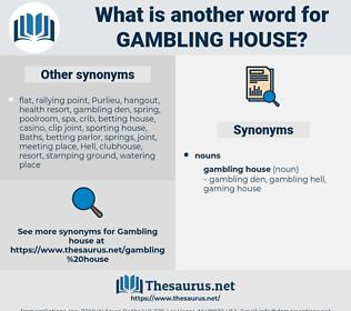 gambling house, synonym gambling house, another word for gambling house, words like gambling house, thesaurus gambling house
