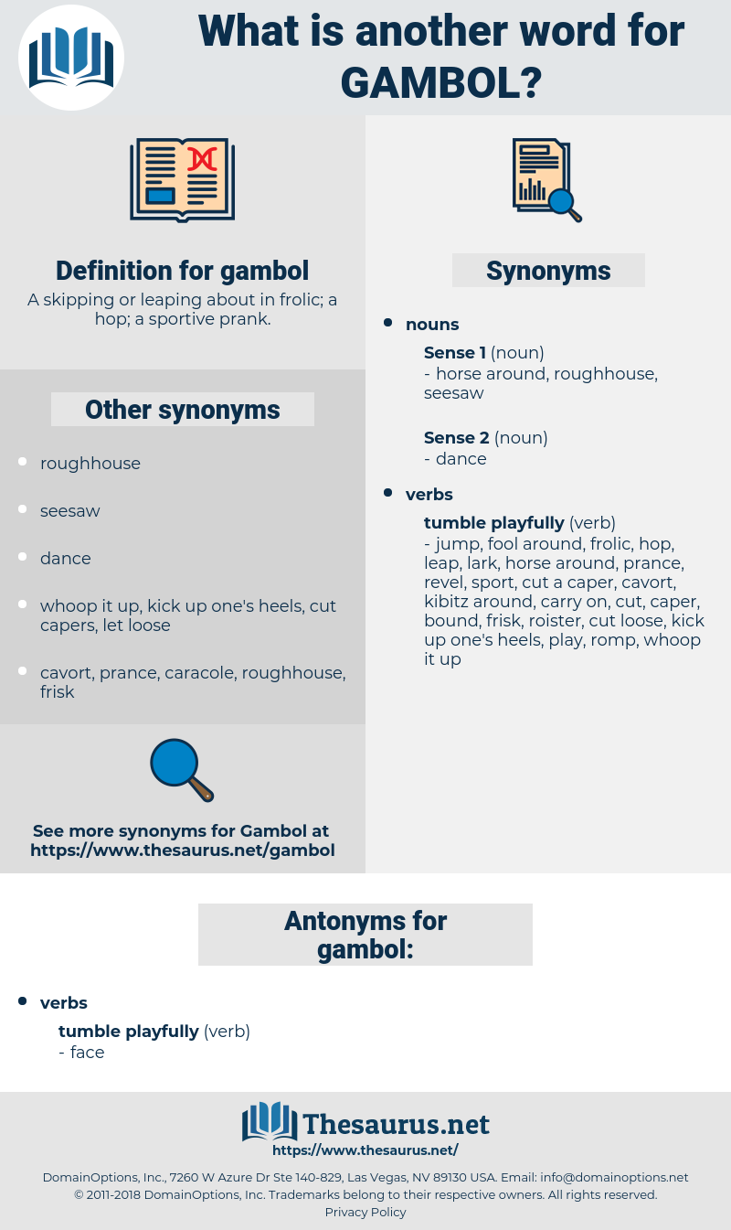 gambol, synonym gambol, another word for gambol, words like gambol, thesaurus gambol