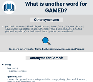 Gamed, synonym Gamed, another word for Gamed, words like Gamed, thesaurus Gamed