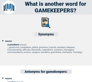 gamekeepers, synonym gamekeepers, another word for gamekeepers, words like gamekeepers, thesaurus gamekeepers