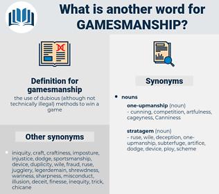 gamesmanship, synonym gamesmanship, another word for gamesmanship, words like gamesmanship, thesaurus gamesmanship