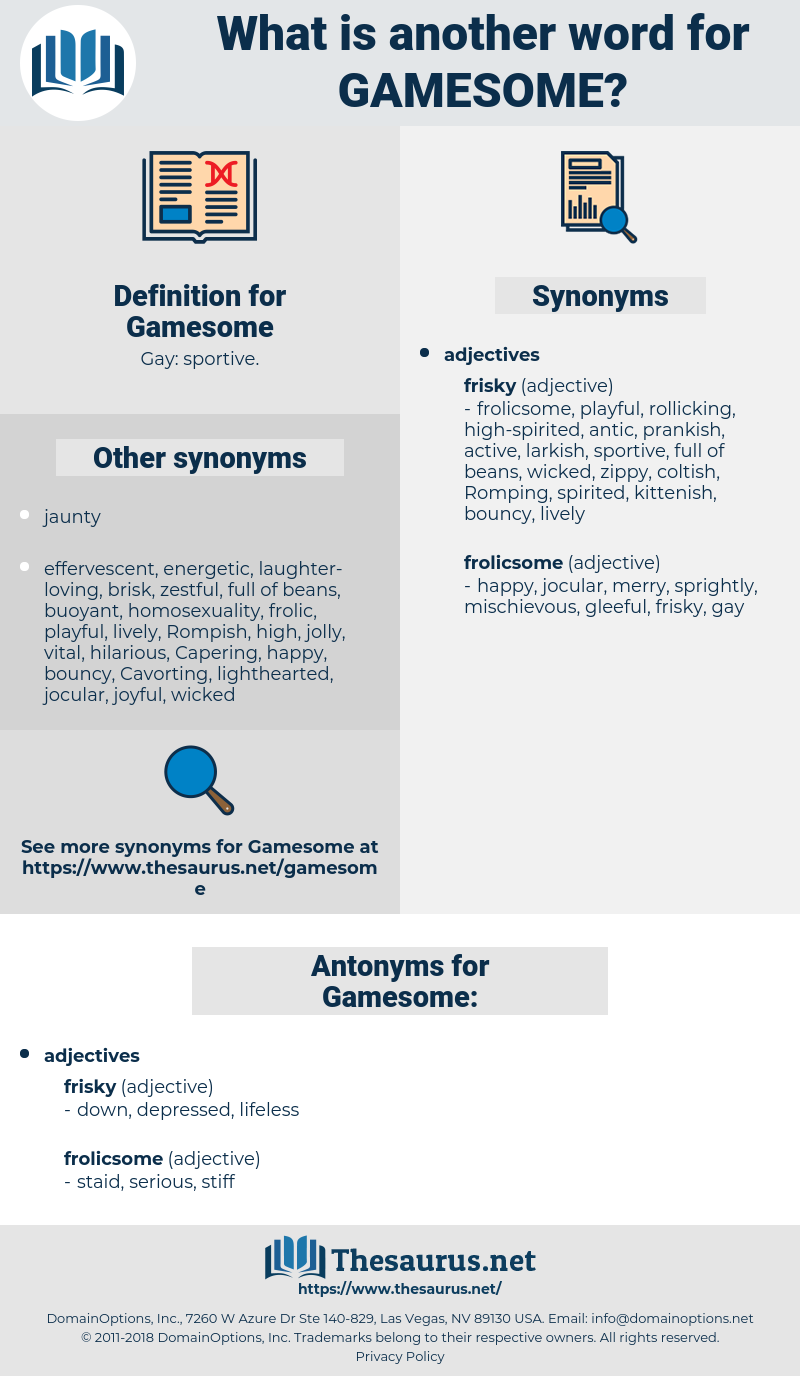 Gamesome, synonym Gamesome, another word for Gamesome, words like Gamesome, thesaurus Gamesome