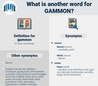gammon, synonym gammon, another word for gammon, words like gammon, thesaurus gammon