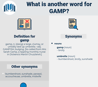 gamp, synonym gamp, another word for gamp, words like gamp, thesaurus gamp
