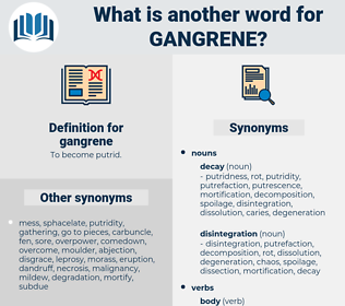 gangrene, synonym gangrene, another word for gangrene, words like gangrene, thesaurus gangrene