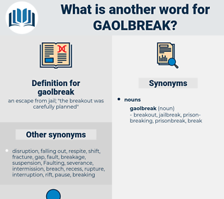 gaolbreak, synonym gaolbreak, another word for gaolbreak, words like gaolbreak, thesaurus gaolbreak