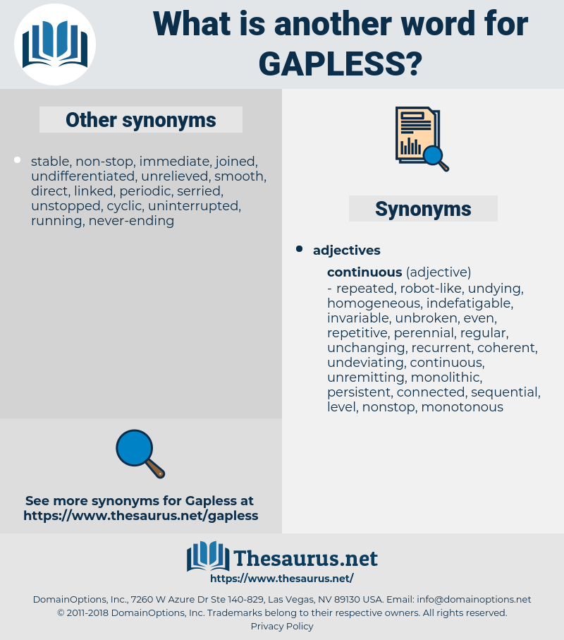 gapless, synonym gapless, another word for gapless, words like gapless, thesaurus gapless