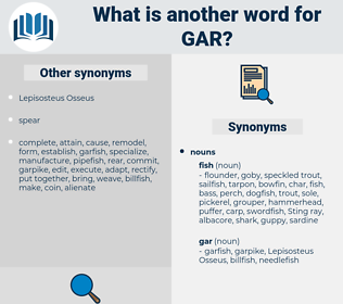 gar, synonym gar, another word for gar, words like gar, thesaurus gar