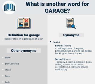 garage, synonym garage, another word for garage, words like garage, thesaurus garage