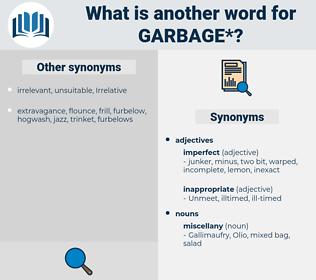garbage, synonym garbage, another word for garbage, words like garbage, thesaurus garbage