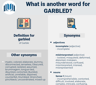 garbled, synonym garbled, another word for garbled, words like garbled, thesaurus garbled