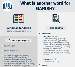 garish, synonym garish, another word for garish, words like garish, thesaurus garish
