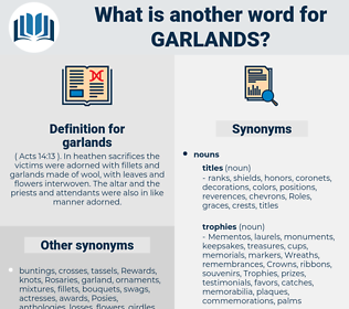 garlands, synonym garlands, another word for garlands, words like garlands, thesaurus garlands