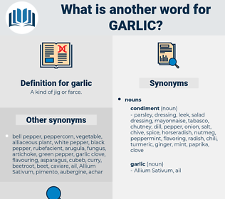 garlic, synonym garlic, another word for garlic, words like garlic, thesaurus garlic