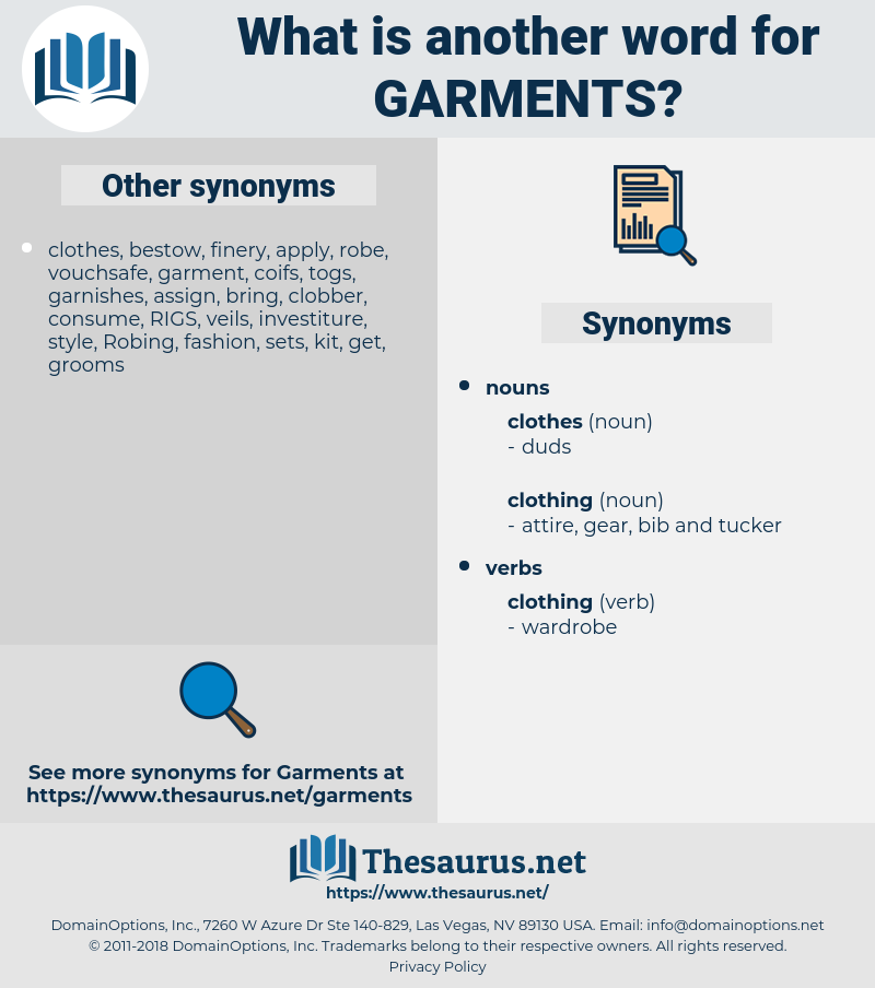 garments, synonym garments, another word for garments, words like garments, thesaurus garments