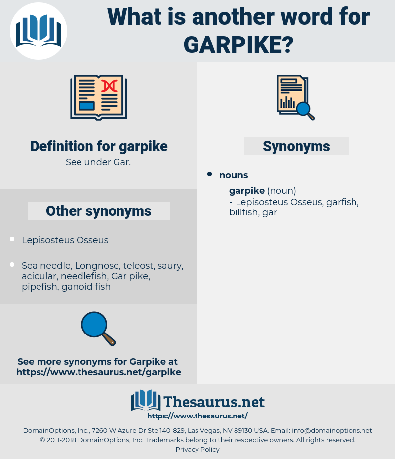 garpike, synonym garpike, another word for garpike, words like garpike, thesaurus garpike