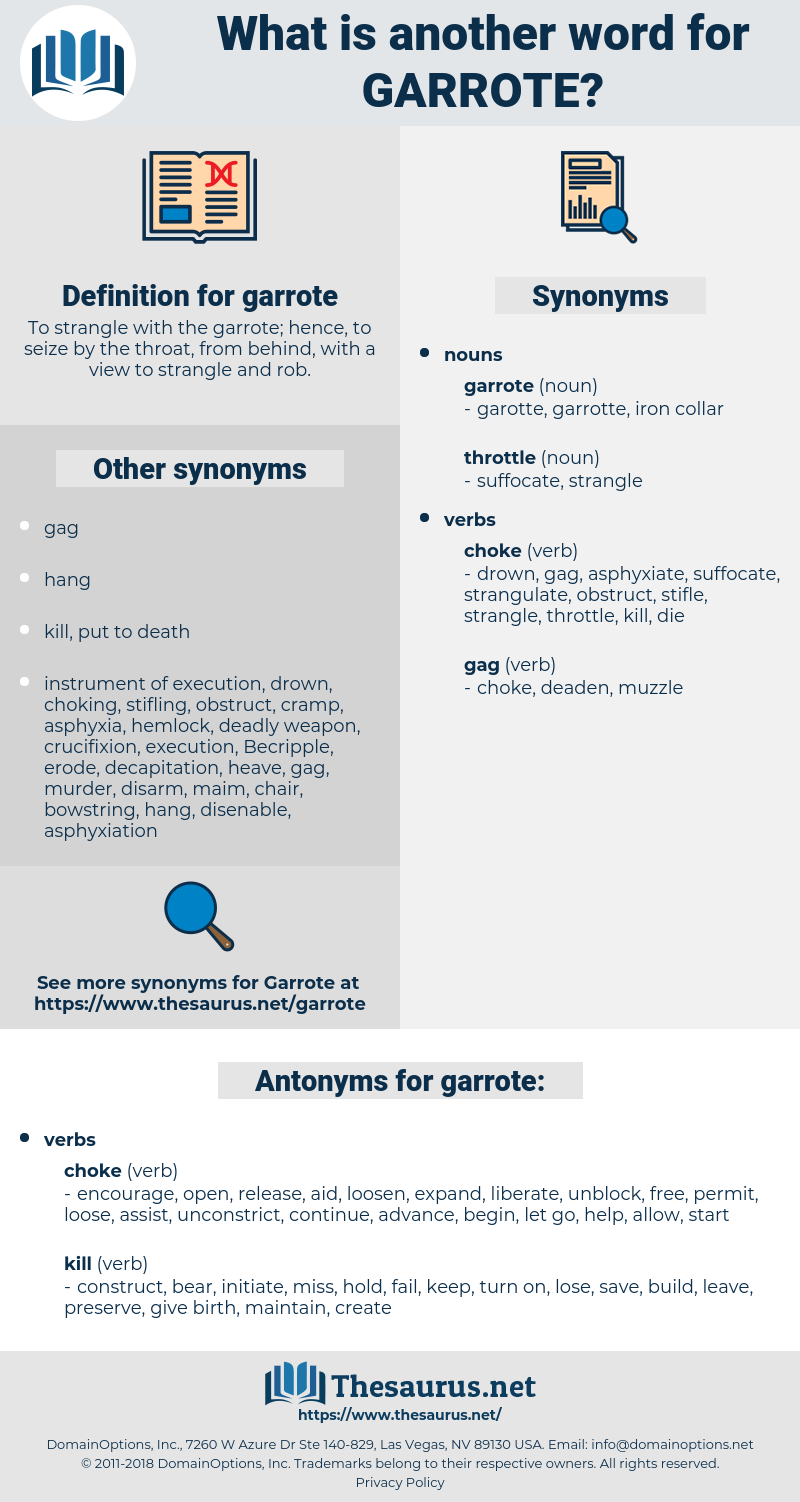 garrote, synonym garrote, another word for garrote, words like garrote, thesaurus garrote