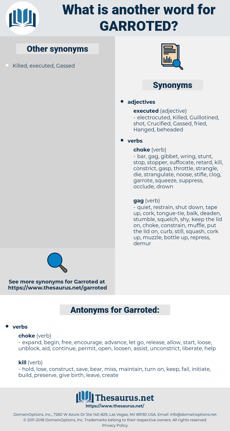 Garroted, synonym Garroted, another word for Garroted, words like Garroted, thesaurus Garroted