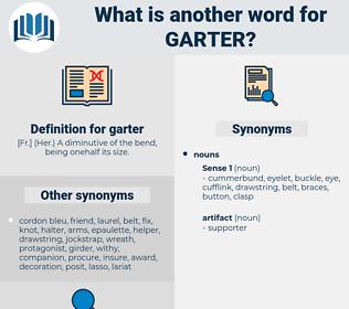garter, synonym garter, another word for garter, words like garter, thesaurus garter