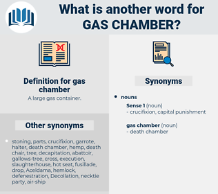 gas chamber, synonym gas chamber, another word for gas chamber, words like gas chamber, thesaurus gas chamber