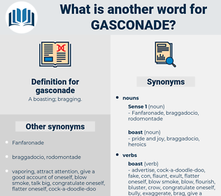 gasconade, synonym gasconade, another word for gasconade, words like gasconade, thesaurus gasconade