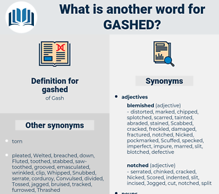gashed, synonym gashed, another word for gashed, words like gashed, thesaurus gashed
