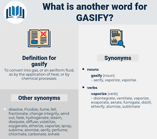 gasify, synonym gasify, another word for gasify, words like gasify, thesaurus gasify