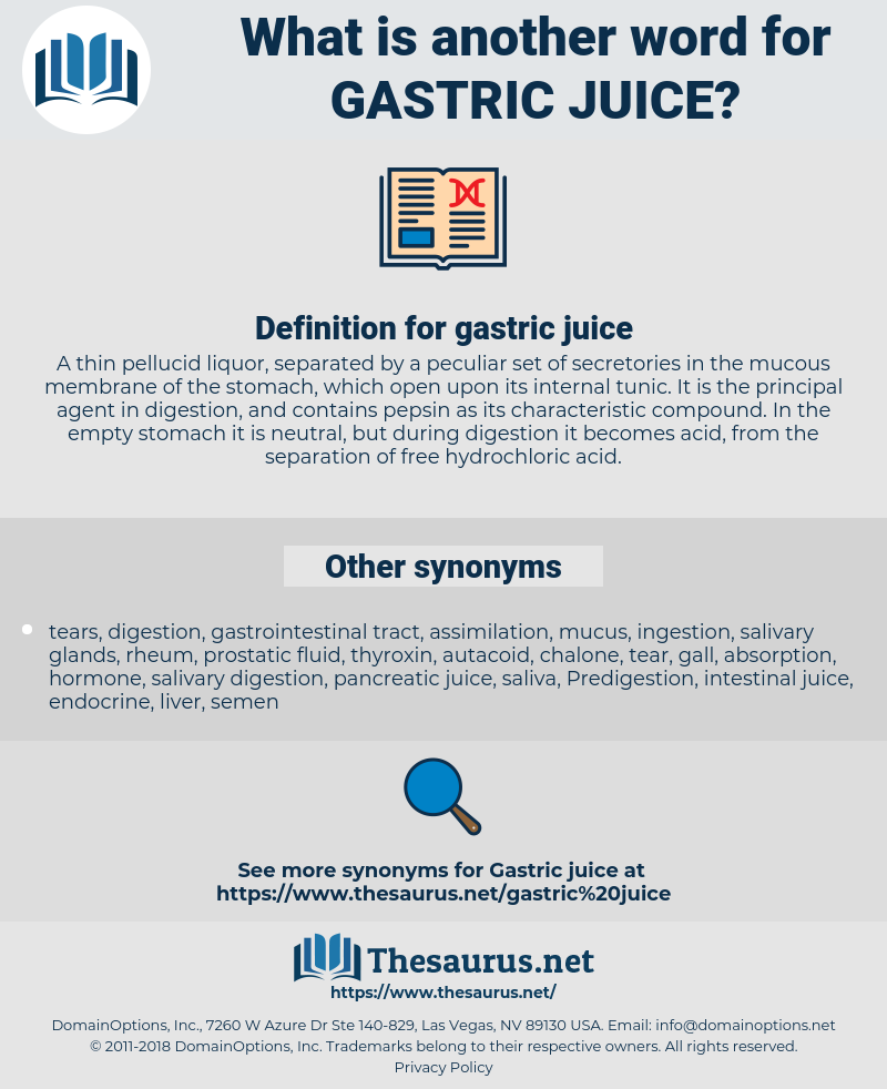 gastric juice, synonym gastric juice, another word for gastric juice, words like gastric juice, thesaurus gastric juice