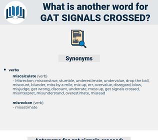 gat signals crossed, synonym gat signals crossed, another word for gat signals crossed, words like gat signals crossed, thesaurus gat signals crossed