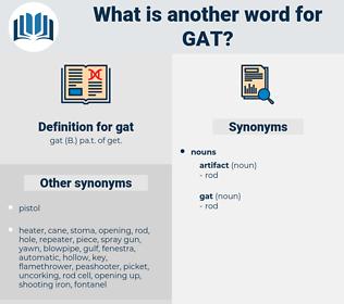 gat, synonym gat, another word for gat, words like gat, thesaurus gat