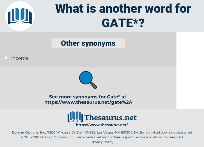 gate, synonym gate, another word for gate, words like gate, thesaurus gate